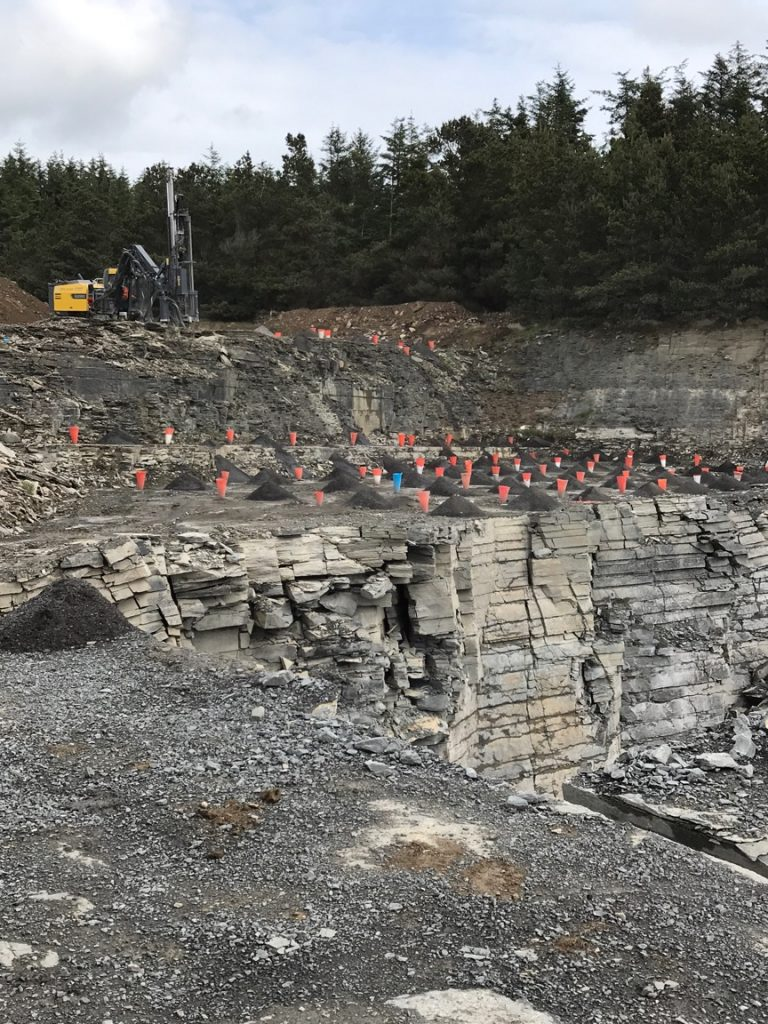 DER and Ibbotson Drilling Services active in Scotland Granite Quarry