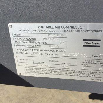 Atlas Copco XAVS 400 Air Compressor