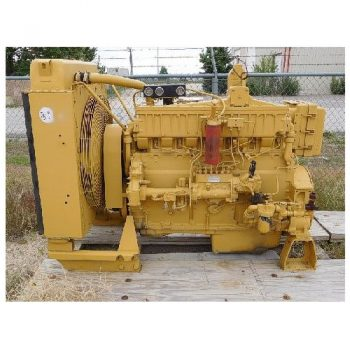 CAT 3406 Diesel Eng, S/N- 90U12281 w/Radiator & Gauges