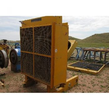 CAT V-Fin Radiator on Skid, No Fan or Sheaves, (1) CAT V-Fin Radiator, No Skid, No Fan or Sheaves, Ea  2'0 x 7'W x 7'H