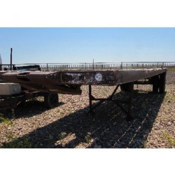 1975 Custom 8'W x 28'L S/A Float Trailer, VIN-90684, w/Folding Jacks, Live Tail Roll, 9.00-20 Tires