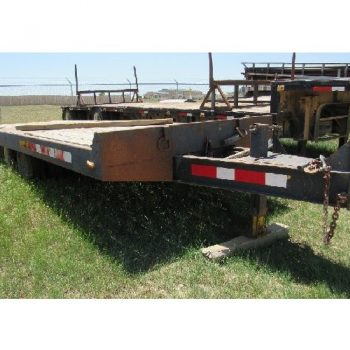 1983 TRAIL KING 8'W x 24'L T/A Bumper Pull Pintle Hitch Trailer w/Tilt Deck, VIN-ITKC02424DM023339, 30,000# GVWR, Single Trailer Jack Landing Gear, 9-14.5 Load Range G Tires
