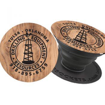 DER Faux-Wood Popsocket